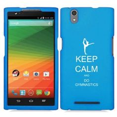 ZTE Zmax Z970 Snap On 2 Piece Rubber Hard Case Cover Keep Calm and Do Gymnastics (Light Blue). ZTE Zmax Z970 Snap On 2 Piece Rubber Hard Case Cover Keep Calm and Do Gymnastics.