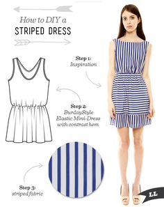 How to DIY a Striped Cut Out Back Summer Dress — Sew DIY