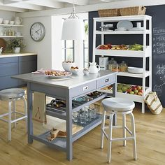Sheridan Grey Kitchen Island | Crate and Barrel