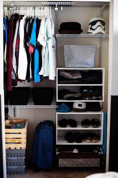 Teen Closet Organization Diy 70 Ideas For 2019 Boys Bedroom Furniture, Boys Bedroom Decor, Bedroom Ideas, Diy Furniture, Boys Closet, Closet Bedroom, Teen Closet Organization, Clothing Organization, Clothing Storage