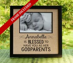 Godparents gift Personalized Baptism gift by abidingwordcreations