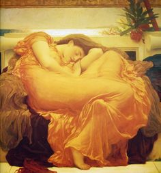 Flaming June - Frederic Leighton. I have this framed and on my wall in my living room...
