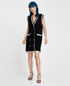 3ad75763cc ZARA - WOMAN - DOUBLE-BREASTED DRESS WITH PEARL BEADS 真珠のドレス