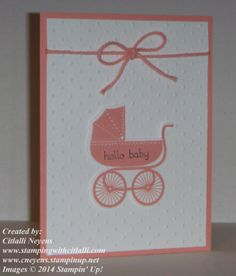 Sneak Peek: Something for Baby stamp set from the upcoming Stampin' Up! 2014-2015 catalog.