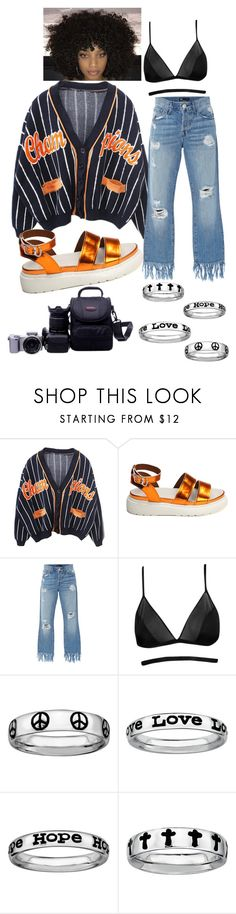 """#5 - Champion Sweater"" by imtheimpossible ❤ liked on Polyvore featuring Champion, 3x1, Boohoo and Stacks and Stones"
