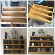 DIY shelve for zippo lighters