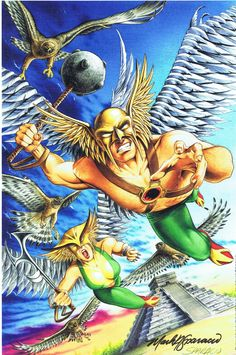 Hawkman and Hawkgirl at Chichen Itza by Mark Sparacio