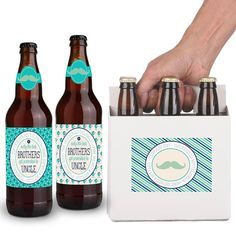 Pregnancy Announcement Beer Labels  Uncle by TheSloshedSisters