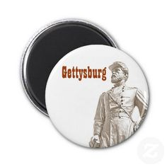 #Gettysburg Reynolds Sepia Sketch Magnet - The most famous battle of the #Civil #War started 150 years ago on July 1, 1863.  The subject is a statue of Gen. John Reynolds, who fell in battle on that day.