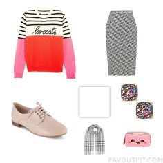 Fashion Wish List With Chinti And Parker Sweater Pencil Skirt Clarks Oxfords And High Heeled Footwear From November 2016 #outfit #look