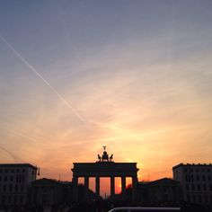 Brandenburg Tor, Berlin at sunset.