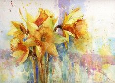 """A Splash of Daffs"" - Original Fine Art for Sale - © Nigel Fletcher"
