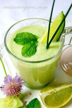 Soupe Froide à l'Avocat et au Concombre