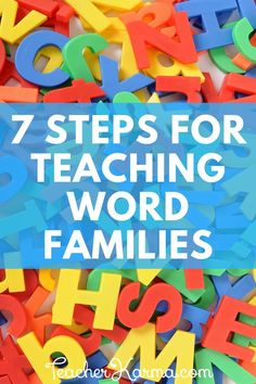 How to teach word families. Beginning reading made easy. #wordfamilies #teacherkarma #beginningreading #phonics #decoding #tpt
