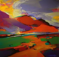 West Abstract Landscape Canvas Print / Canvas Art by Pamela Munger ...