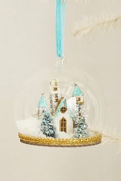 Castle Globe Ornament #anthropologie