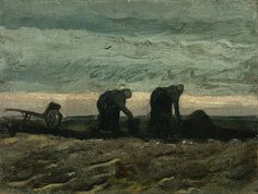 Two Women On The Heath  Vincent van Gogh