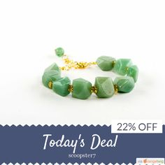 Today Only! 22% OFF this item.  Follow us on Pinterest to be the first to see our exciting Daily Deals. Today's Product: Aventurine Bracelet with Antique Gold Clasp Buy now: https://www.etsy.com/listing/214497066?utm_source=Pinterest&utm_medium=Orangetwig_Marketing&utm_campaign=welcome%20deal   #etsyshop #picoftheday #shop #shopping #instagood #instafollow #loveit #instacool #love #OrangeTwig #instalike #shopsmall #smallbusiness #photooftheday #sale #dailydeal #dealoftheday #todayonly…