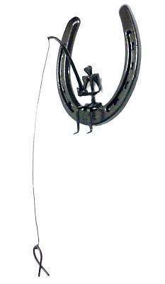 Hanging Horseshoe And Horseshoe Nail Fisherman Art