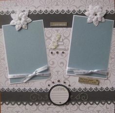 PREMADE SCRAPBOOK PAGES - WEDDING / LOVE BY PPP | eBay
