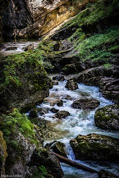 A natural monument the Breitachklamm gorge Mountain Landscape, Lakes, Waterfall, River, Explore, Natural, Outdoor, Outdoors, Waterfalls