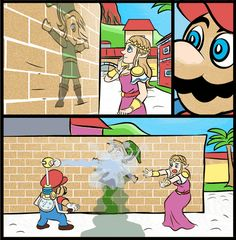Look! Mario needs to clean that off the wall if he wants to get a 100% success rate.