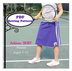 Athletic Skirt  PDF Sewing Pattern   Ladies by MaggieElizDesigns, $8.95