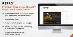 Repro Drupal 7 Responsive Theme - for Blog, News, Magazines | Themesnap.com