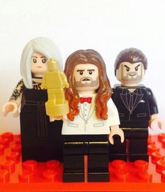 Lego version of jared, shannon and constance leto