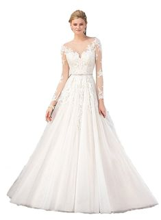 VERSILU Lace Wedding Dress Sweetheart A-line Long Tulle Country Style Bridal Gowns
