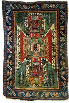 Maison d'enchères en ligne Catawiki: Antique Armenian Shield Kazak, Sewan.