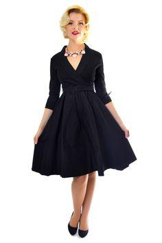 d06cd3f4ee9 VIVI cotton black 1950s Fashion Dresses