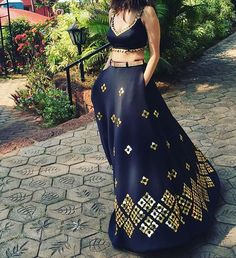 Busy playing shapeshifter in our black #neoprene #heartlit #lehnga and cutwork #choli #papadontpreach #bridalcouture