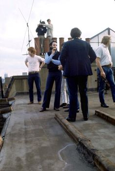 Paul and others on the rooftop  at Apple