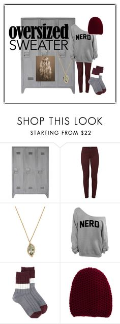 """60-Second Style: Oversized Sweater"" by pink-wednesdays ❤ liked on Polyvore featuring J Brand, Carelle, Undercover and Inverni"