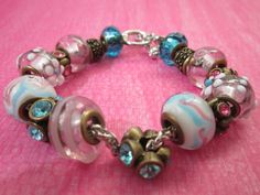 Hey, I found this really awesome Etsy listing at https://www.etsy.com/listing/216961667/european-style-pinkbluewhite-glass-bead