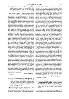 The Journal of Hellenic Studies - Seuthopolis. The Thracian city of Seuthopolis. By D. P. Dimitrov and M. Čičikova. Trans. M. P. Alexieva. (British Archaeological Reports, suppl. ser., 38.) Oxford: British Archaeological Reports. 1978. Pp. [ii]+63, [58] plates (including 1 map, plans—1 folding). £2.50.