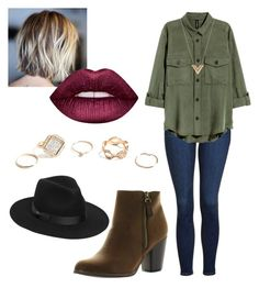 """""""Untitled #3"""" by mridd ❤ liked on Polyvore featuring Topshop, Reneeze, Lack of Color, Louis Vuitton, GUESS and Lime Crime"""