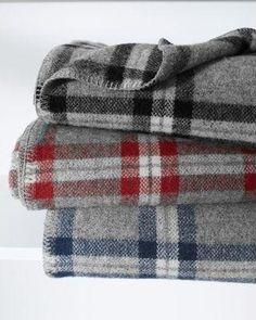 Soho Plaid Wool Throw