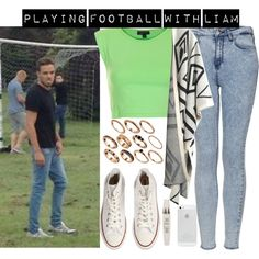 playing football with Liam by vaneh-1 on Polyvore featuring Mode, Topshop, Chicnova Fashion, Converse, ASOS, LiamPayne and onedirectionoutfits