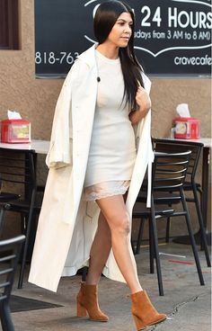 Kourtney Kardashian boots street style