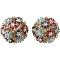 Rhinestone Earrings, Vintage Earrings, Crystal Rhinestone, Stud Earrings, Jewelry Art, Fine Jewelry, Fashion Jewelry, Vintage Costume Jewelry, Vintage Jewelry