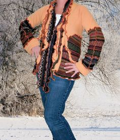 Upcycled Tribal Sweater by Pandora's Passions  #upcycledclothing #alteredcouture
