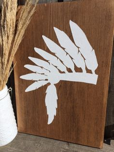 Native American Wooden Headdress Painting Tribal by RootsofDee