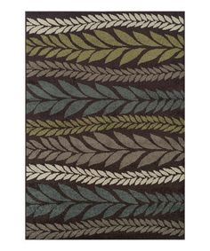 Another great find on #zulily! Chocolate Vines Marcello Rug #zulilyfinds