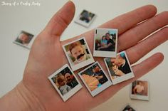 DIY photo magnets - for tiny instagram prints