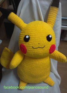 Pikachu Pikachuu Amigurumi Pokemon Pattern by Pianosound on Etsy