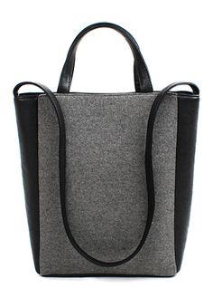 Gray Fashion Shoulder Bag www.bellestrategies.com | #socialmedia #marketing