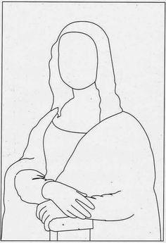 Resultado de imagem para fotos da monalisa para desenhar