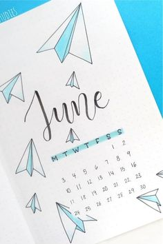 If you're changing up your theme for the month, check out these awesome paper plane themed bullet journal spreads and layouts for inspiration! Bullet Journal Paper, Bullet Journal Month, Creating A Bullet Journal, Bullet Journal Cover Page, Bullet Journal Lettering Ideas, Bullet Journal Notebook, Bullet Journal Aesthetic, Bullet Journal School, Bullet Journal Spread